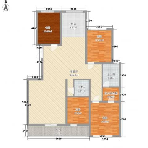 金花园4室1厅2卫0厨188.00㎡户型图