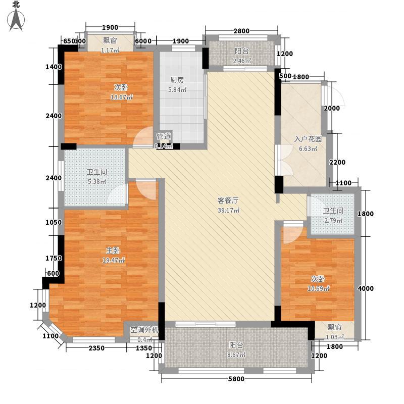 洪城东公馆12号高层户型