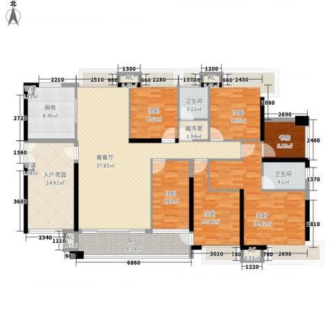 天利中央花园6室1厅2卫1厨163.00㎡户型图