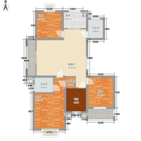 九五花园4室1厅2卫1厨138.00㎡户型图