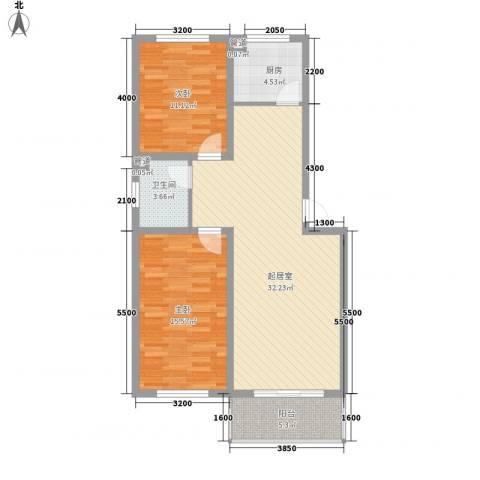 尧和宁苑三期2室0厅1卫1厨72.53㎡户型图