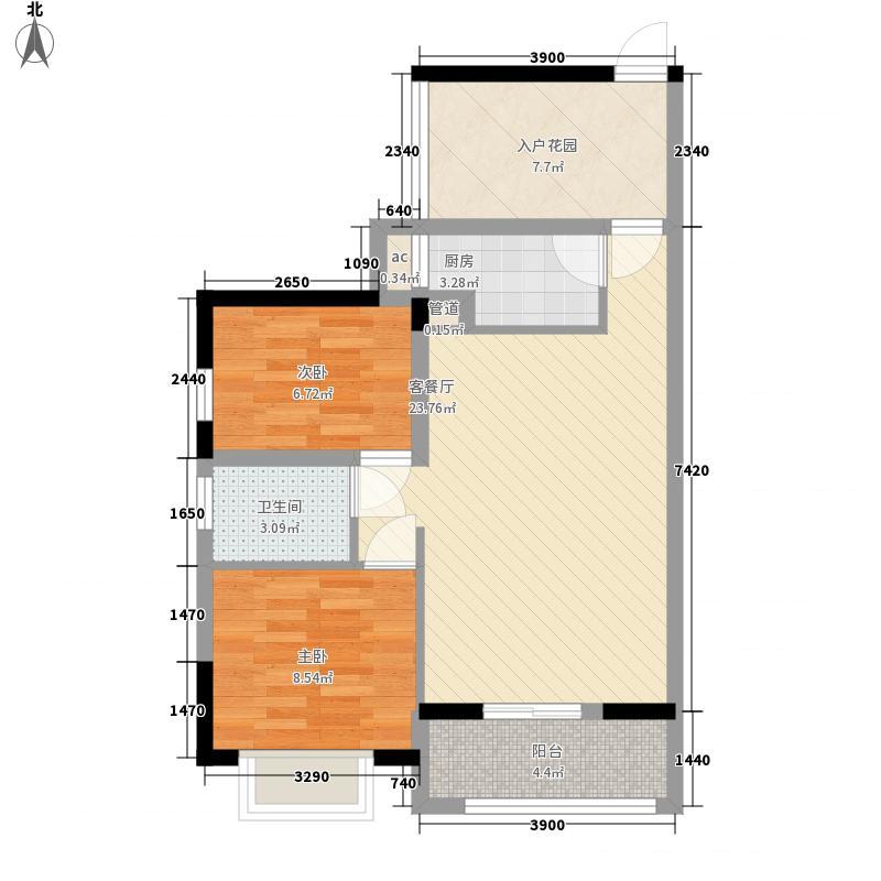 龙光天悦龙庭7.00㎡4、13栋D4户型1室1厅1卫1厨