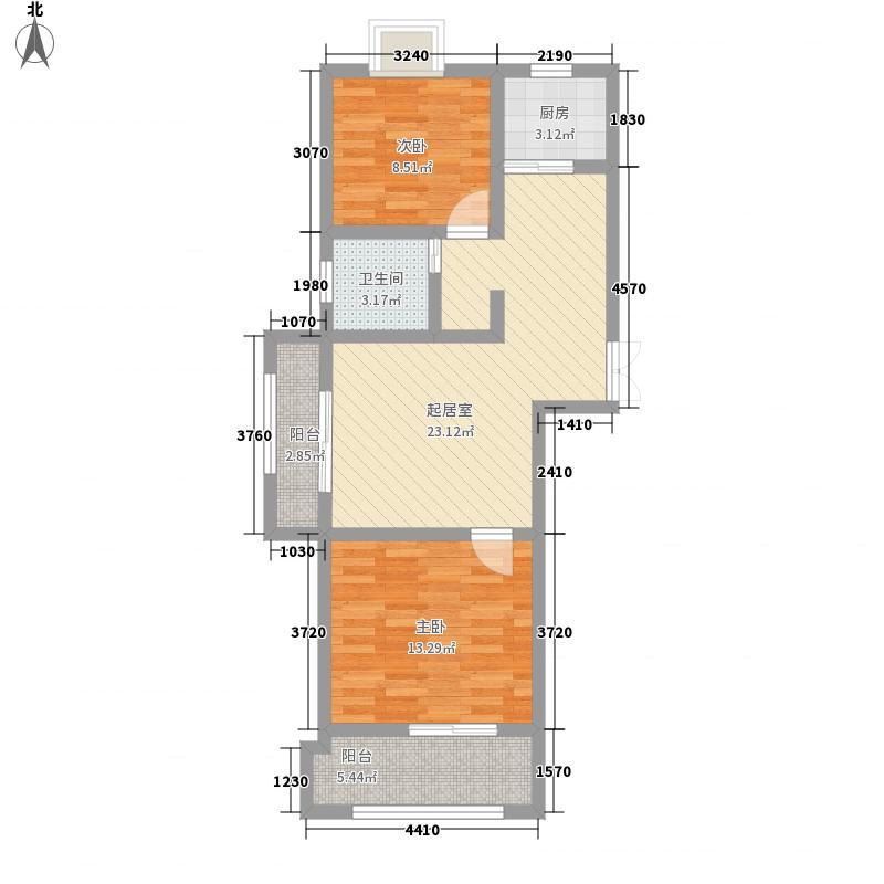 蓝城丽景湾88.82㎡蓝城丽景湾户型图G1户型2室2厅1卫1厨户型2室2厅1卫1厨