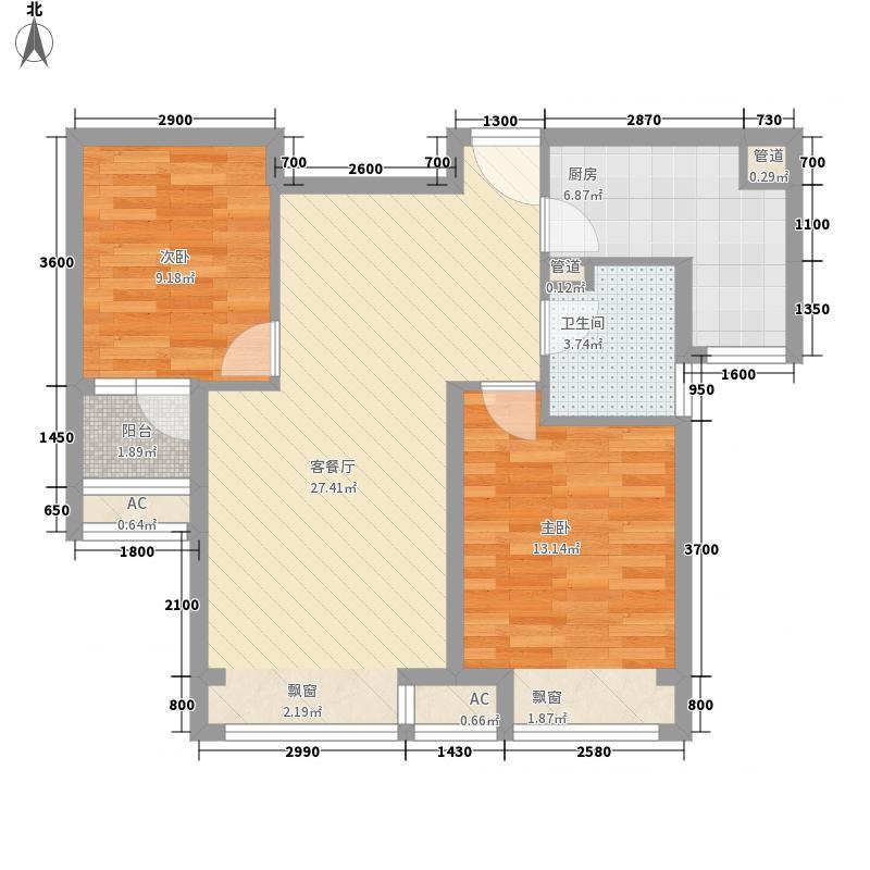 东亚世纪城・凯旋公元83.30㎡1户型2室2厅1卫1厨