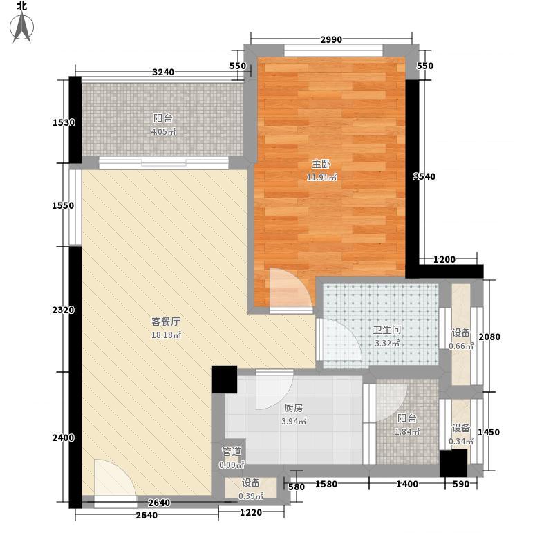 四季康城55.34㎡四季康城户型图1栋A3户型1室2厅1卫户型1室2厅1卫