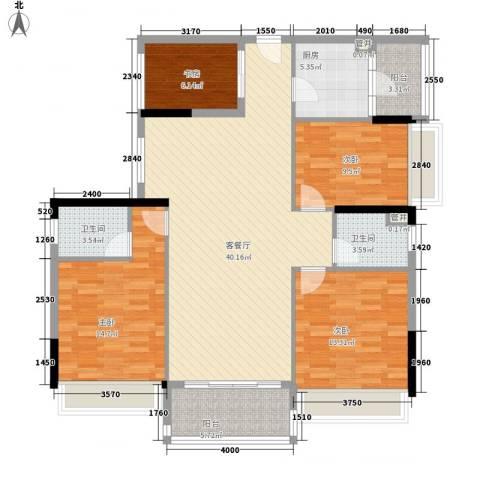 联华花园城二期4室1厅2卫1厨143.00㎡户型图