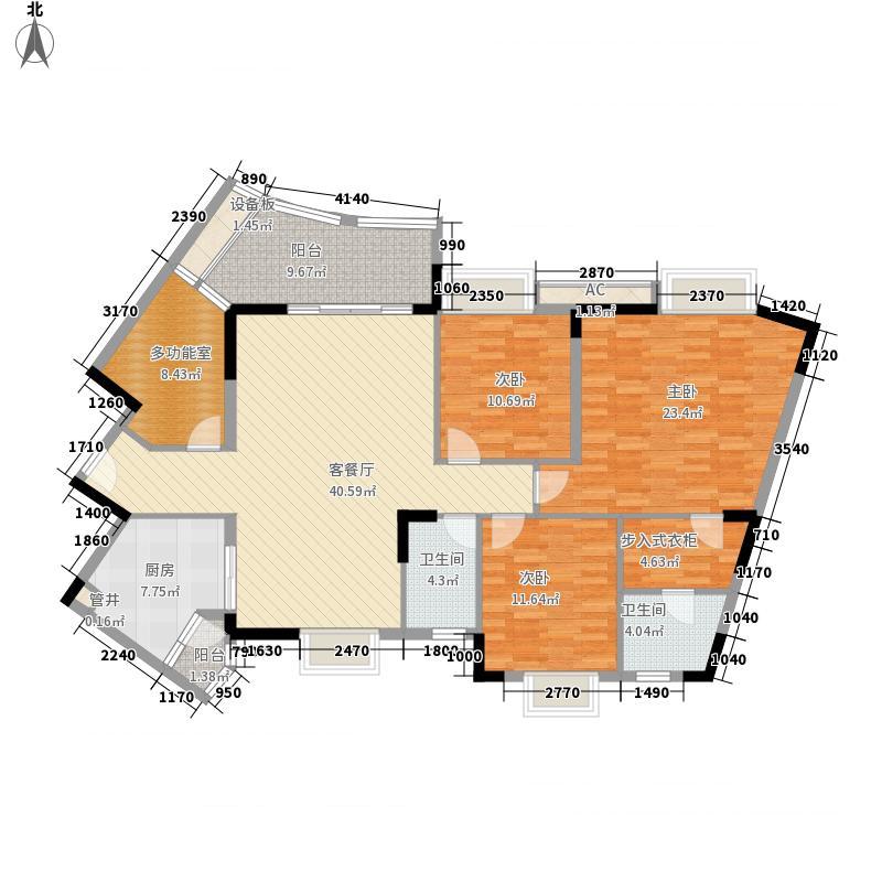 联华花园城二期143.00㎡联华花园城二期4室户型4室
