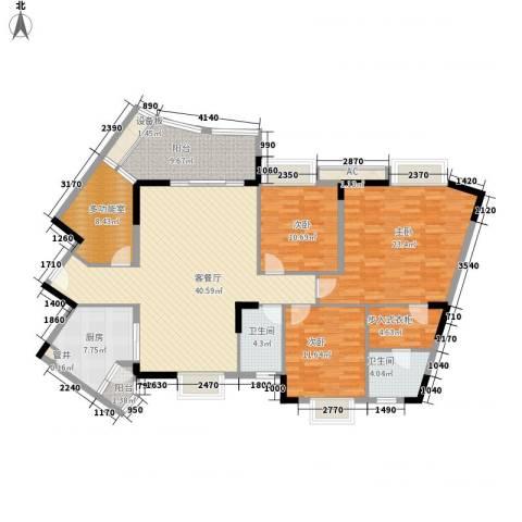 联华花园城二期3室1厅2卫1厨143.00㎡户型图