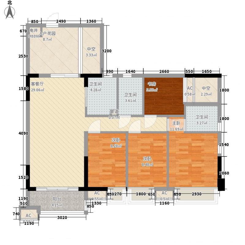 德雅湾阳光海116.78㎡10幢03单元、11幢02单元户型4室2厅2卫1厨