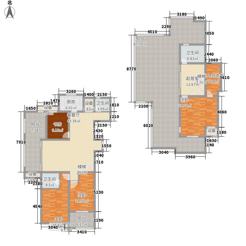 南山景园156.67㎡二期小高层A-Y户型3室3厅2卫