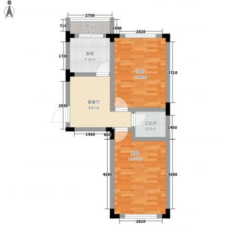 阳光嘉年华尚城2室1厅1卫1厨69.00㎡户型图