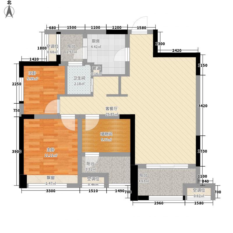 人居东御�家2、3、8#B3标准层户型
