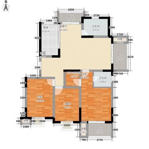 荣亨逸都3室1厅2卫1厨139.00㎡户型图
