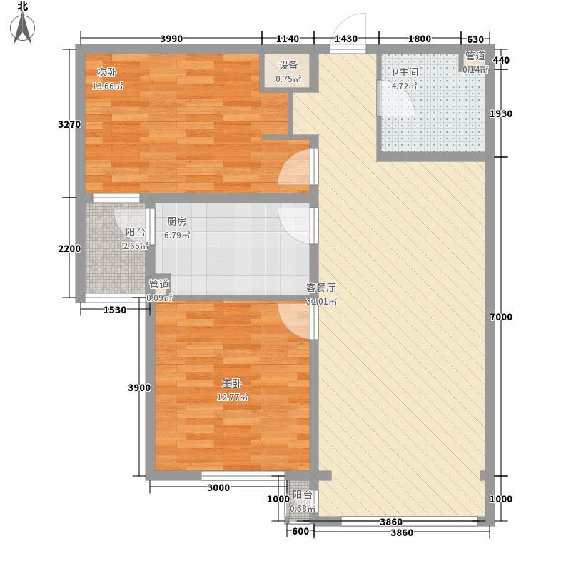 金水花城三期99.88㎡金水花城三期户型图户型图2室2厅1卫户型2室2厅1卫