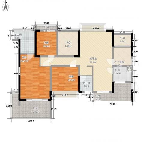 溪山别墅3室0厅2卫1厨162.00㎡户型图