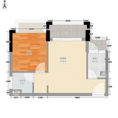 雍景家园1室0厅1卫1厨49.00㎡户型图