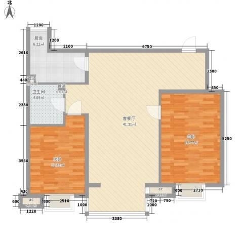 唐园新苑2室1厅1卫1厨130.00㎡户型图