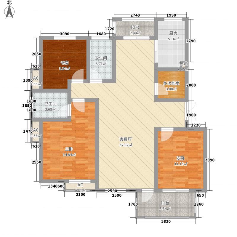 新城公园壹号142.10㎡新城公园壹号户型图3室2厅2卫1厨户型10室