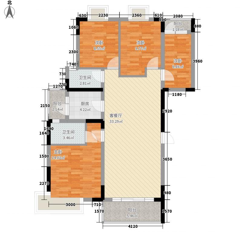 理想0769沁园132.00㎡理想0769沁园4室户型4室