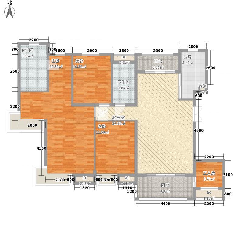 国贸阳光143.10㎡21、22号楼F3户型3室2厅2卫1厨