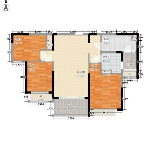 阿城恒大城3室0厅1卫1厨112.00㎡户型图