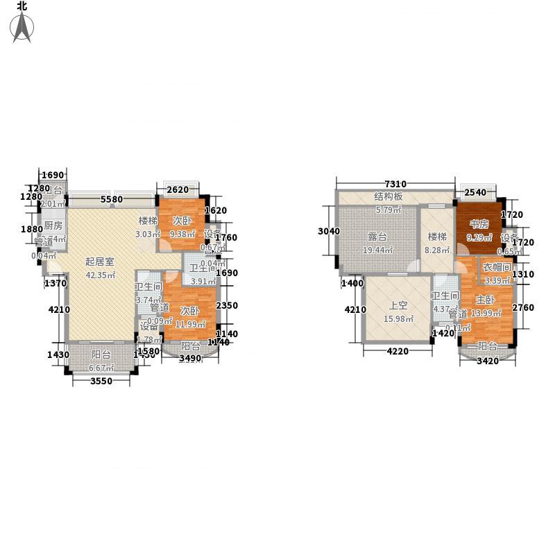雍景家园180.00㎡雍景家园户型图标准层F1户型4室2厅3卫1厨户型4室2厅3卫1厨