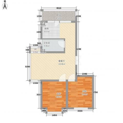 伸马梧桐湾2室1厅1卫0厨73.00㎡户型图