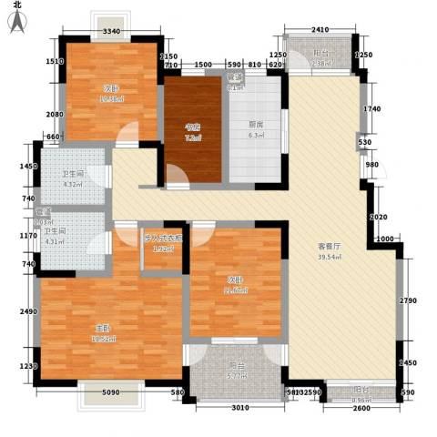 西郡188花园4室1厅2卫1厨165.00㎡户型图