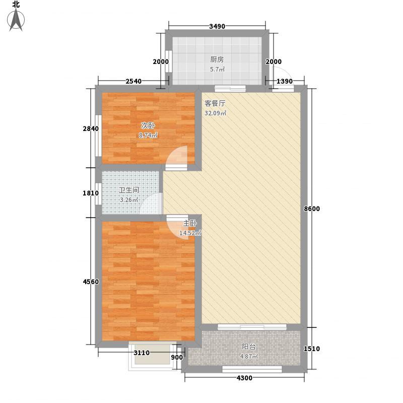 天水丽城二期标准层C/D户型3室2厅1卫
