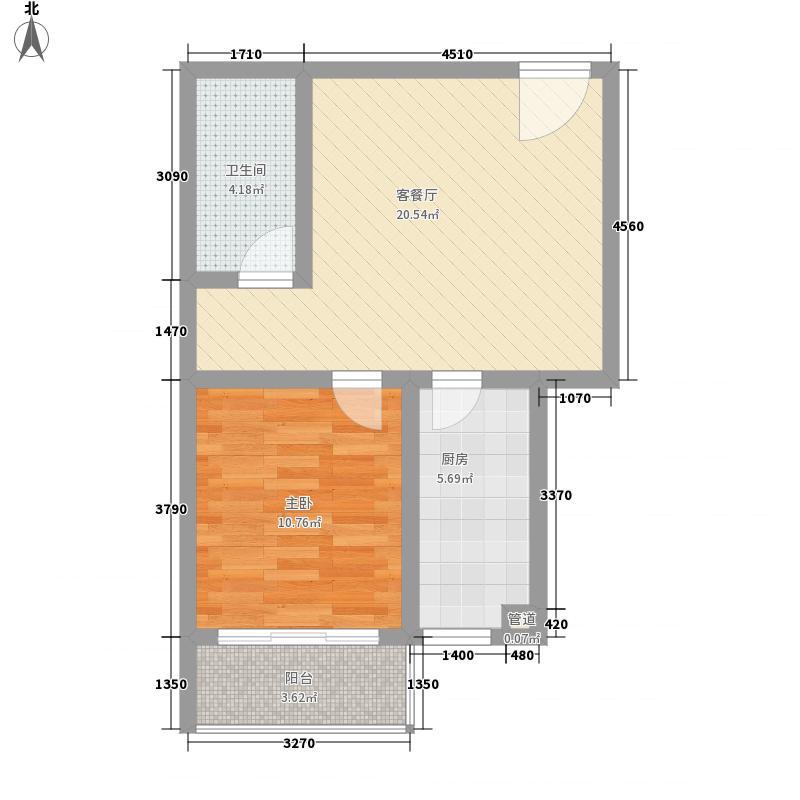 红运新村一居室20户型1室1厅1卫1厨