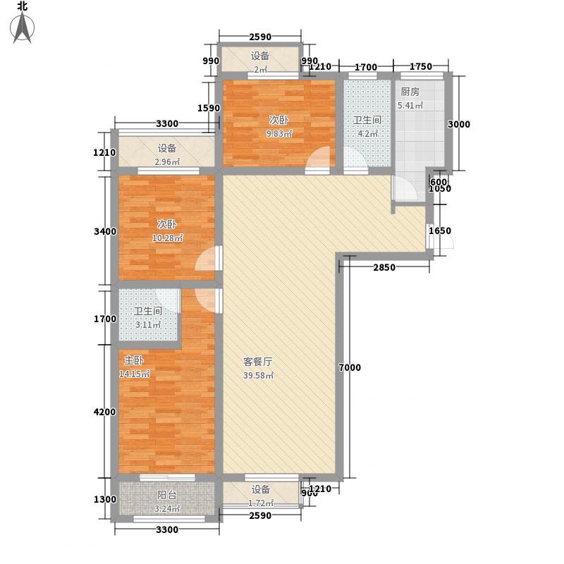 桃李苑2号楼J1户型