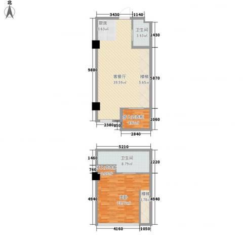 北美时光1室1厅2卫0厨114.00㎡户型图