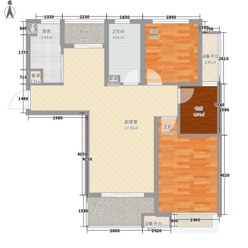 三盛国际广场101.00㎡三盛国际广场户型图D户型3室2厅1卫1厨户型3室2厅1卫1厨