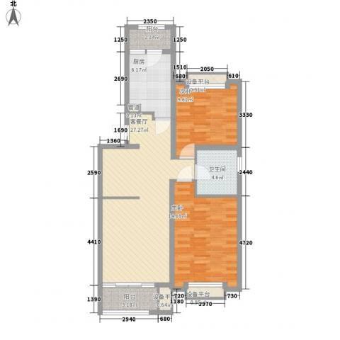 永乐苑2室1厅1卫1厨102.00㎡户型图