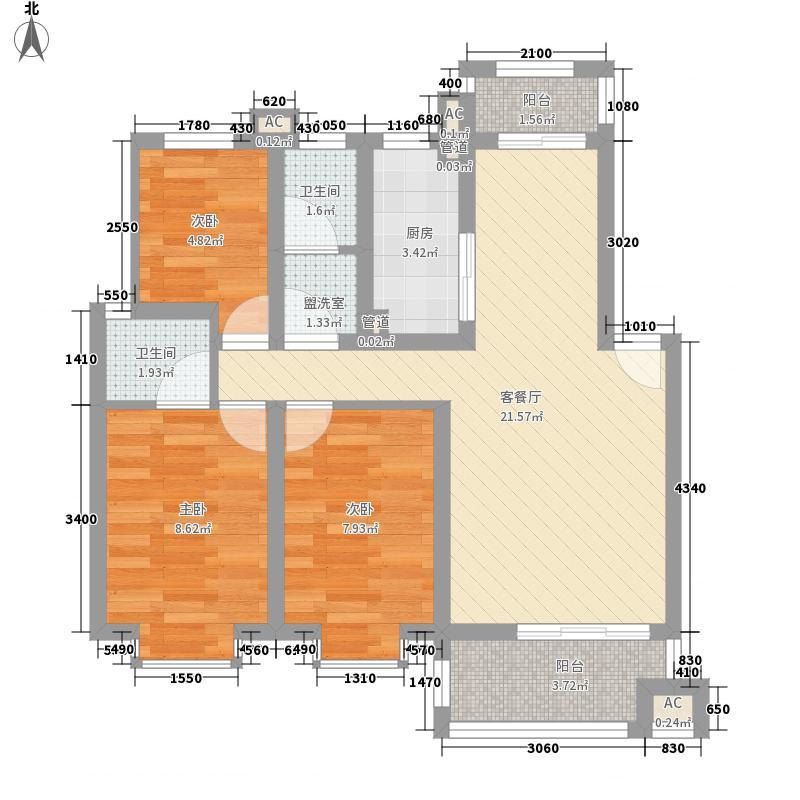 宏远新村86.00㎡宏远新村3室户型3室