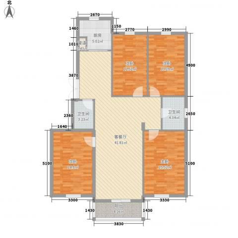 亲亲家园4室1厅2卫1厨159.00㎡户型图
