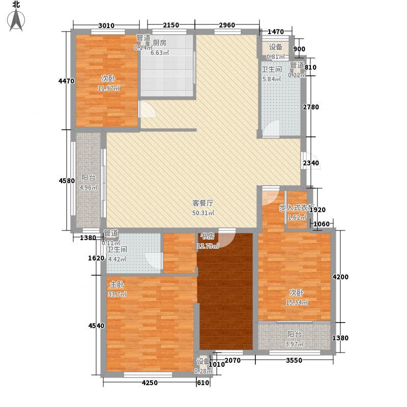 海源丽都户型5室2厅2卫1厨