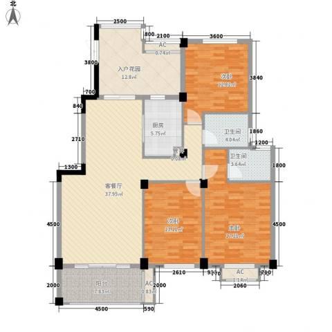 BOBO城3室1厅2卫1厨137.00㎡户型图