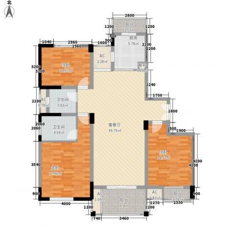 BOBO城3室1厅2卫1厨145.00㎡户型图