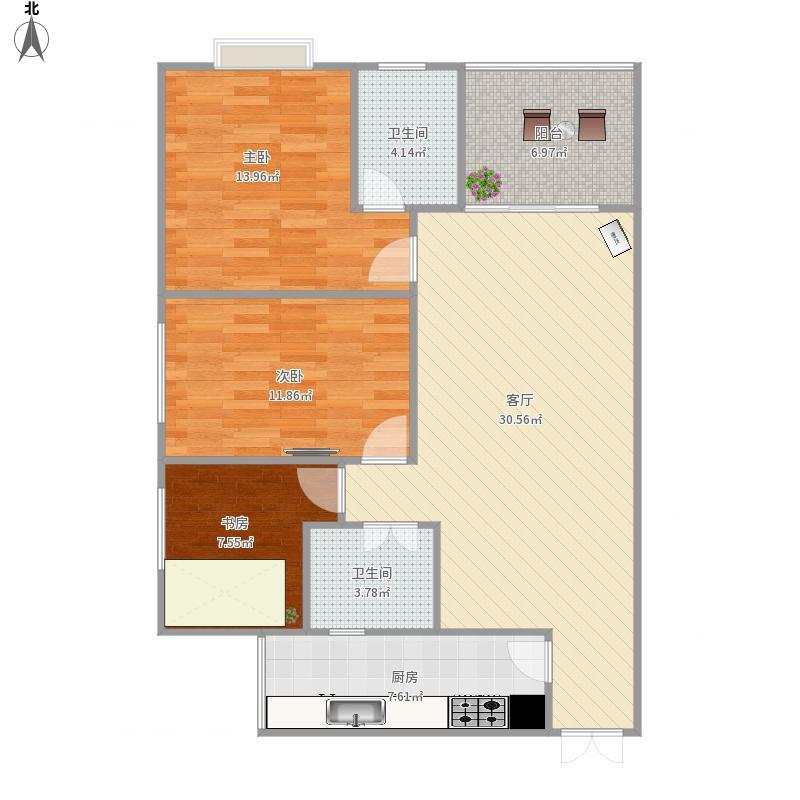 贵阳-花果园R区3栋2单元1001-设计方案