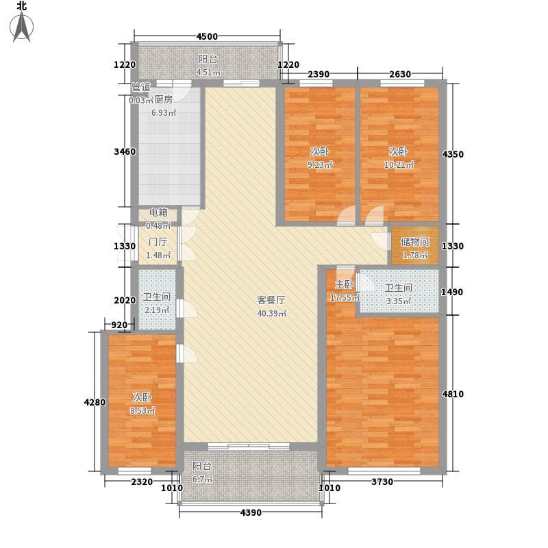风车小镇159.71㎡风车小镇户型图4室2厅3卫1厨户型10室