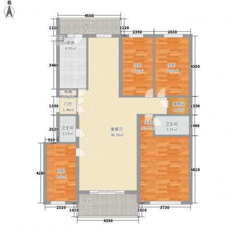 风车小镇4室1厅2卫1厨160.00㎡户型图