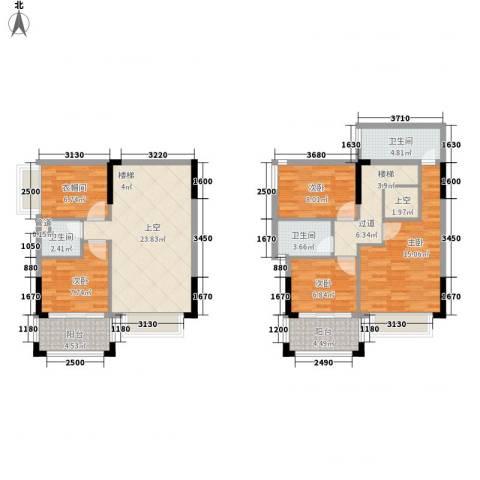 雍景家园4室0厅3卫0厨100.00㎡户型图