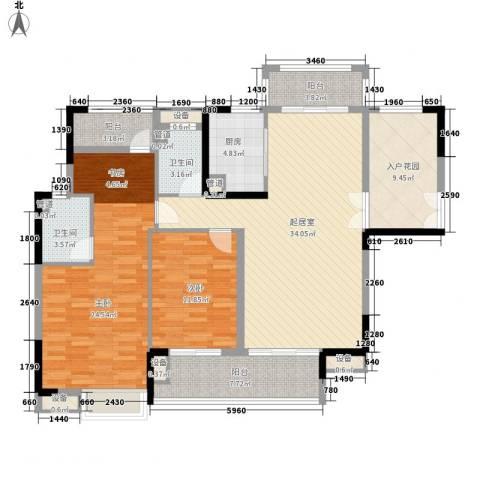 远洋启宸2室0厅2卫1厨156.00㎡户型图