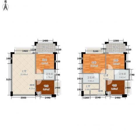 雍景家园5室0厅3卫0厨101.00㎡户型图