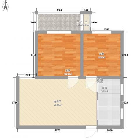 雅逸花园2室1厅0卫1厨71.00㎡户型图