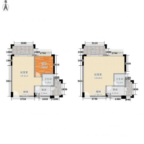雍景家园1室0厅2卫2厨101.00㎡户型图
