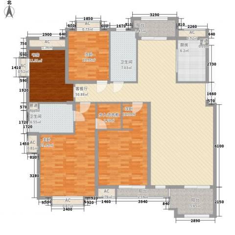 第一国际百安居4室1厅2卫1厨218.00㎡户型图