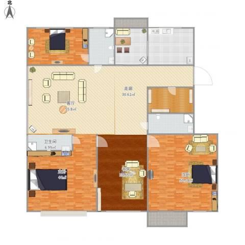 国泰花园1室1厅2卫1厨394.00㎡户型图