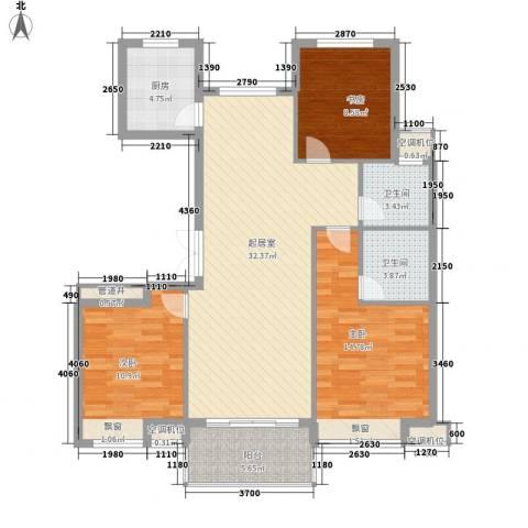 祥盛明湖湾3室0厅2卫1厨122.00㎡户型图